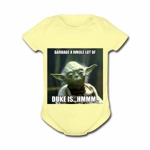 Duke is Garbage - Short Sleeve Baby Bodysuit