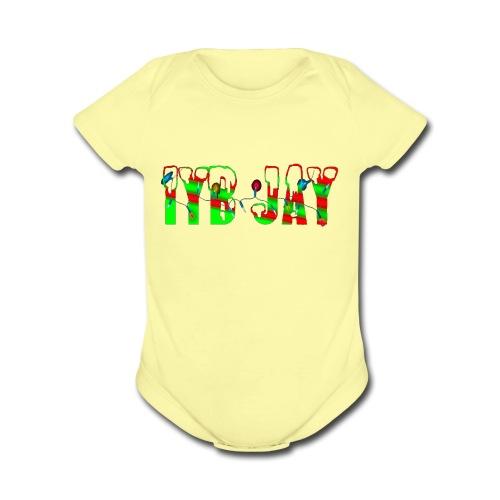 IYB JAY XMAS LOGO - Organic Short Sleeve Baby Bodysuit