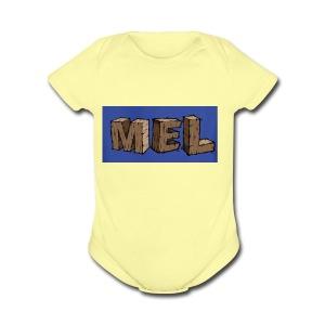 MEL MERCH - Short Sleeve Baby Bodysuit