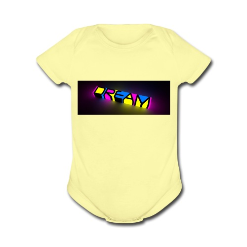 dream color neon - Organic Short Sleeve Baby Bodysuit