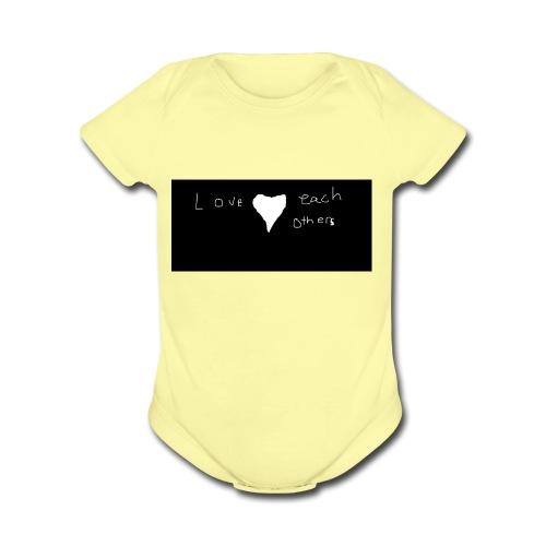 LOVE PEOPLE - Organic Short Sleeve Baby Bodysuit