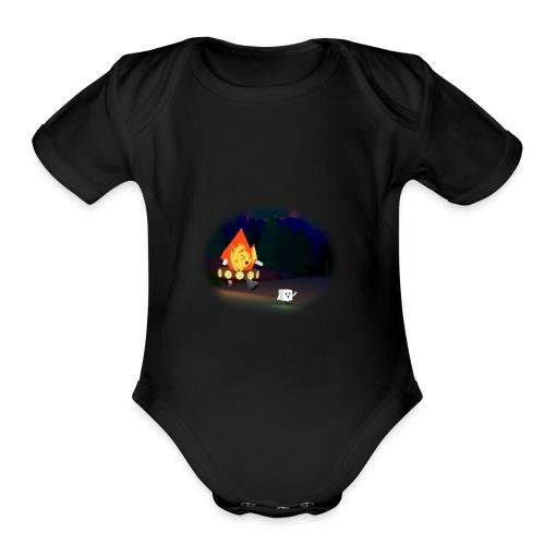 'Round the Campfire - Organic Short Sleeve Baby Bodysuit
