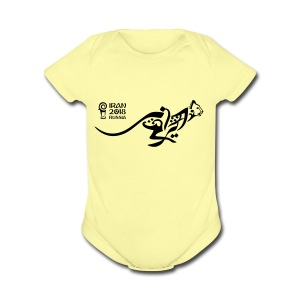 Running Cheetah - Short Sleeve Baby Bodysuit