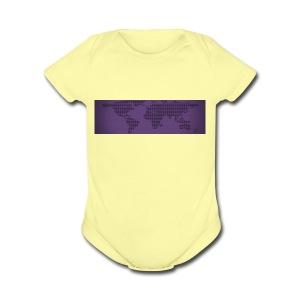 flat earth - Short Sleeve Baby Bodysuit