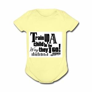 Train UP a child - Short Sleeve Baby Bodysuit