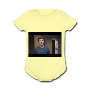 handsome preston - Short Sleeve Baby Bodysuit