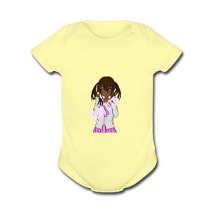 Alien Kitty's Attire - Short Sleeve Baby Bodysuit
