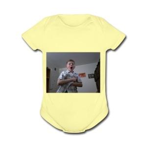 Xavier bongo hoodie/ wow - Short Sleeve Baby Bodysuit
