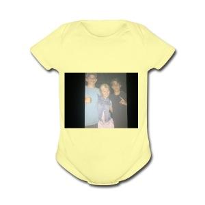 551BC47F 4EDD 495D A2BA 0B76E200EB28 - Short Sleeve Baby Bodysuit