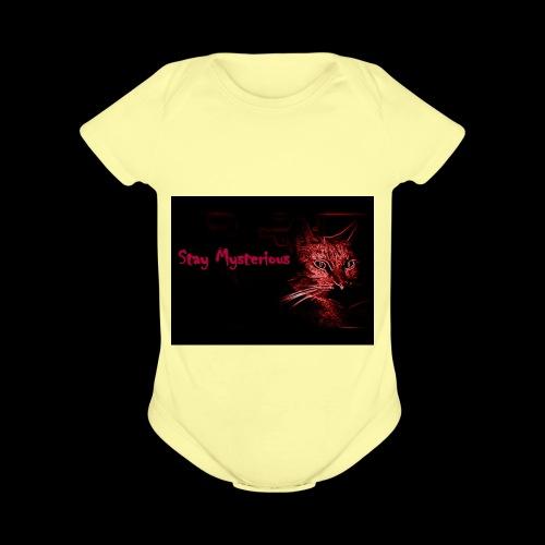 Stay Mysterious - Organic Short Sleeve Baby Bodysuit