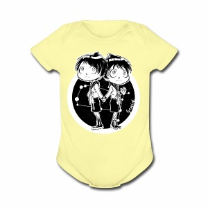 Gemini Original Zodiac Sign - Short Sleeve Baby Bodysuit