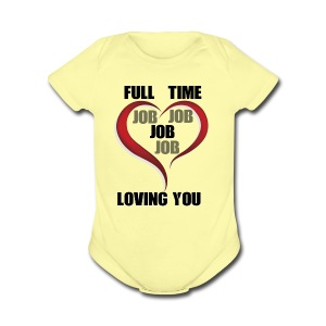 Being happy while being loved - Short Sleeve Baby Bodysuit