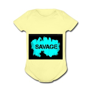Savage merchandise - Short Sleeve Baby Bodysuit