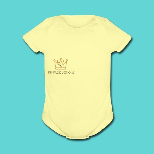 Musical Crown - Organic Short Sleeve Baby Bodysuit