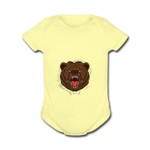 THE BEAST - Short Sleeve Baby Bodysuit