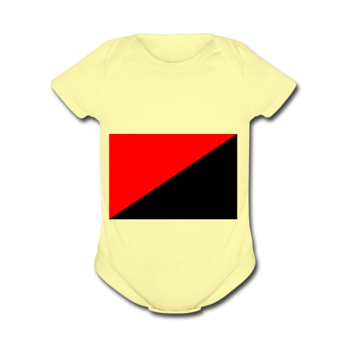 red and black - Organic Short Sleeve Baby Bodysuit