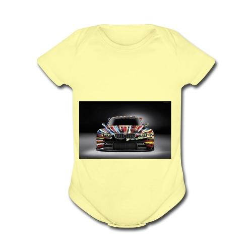 Dream car shirt - Organic Short Sleeve Baby Bodysuit