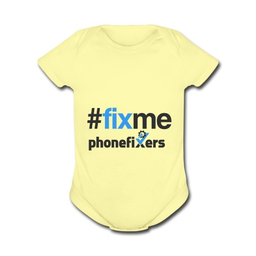 Fix Me - Organic Short Sleeve Baby Bodysuit