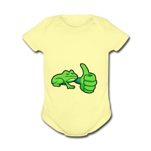Ribby the Cool Frog - Short Sleeve Baby Bodysuit
