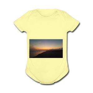 Ocean Sunset - Short Sleeve Baby Bodysuit