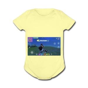 My First Win! - Short Sleeve Baby Bodysuit