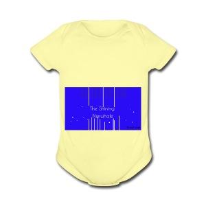 Shining Narwhale - Short Sleeve Baby Bodysuit