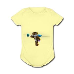 Supershiftery Design 1 - Short Sleeve Baby Bodysuit