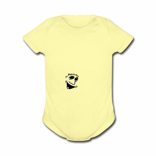Happier Boy - Organic Short Sleeve Baby Bodysuit