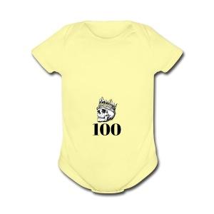 100 subs merch - Short Sleeve Baby Bodysuit