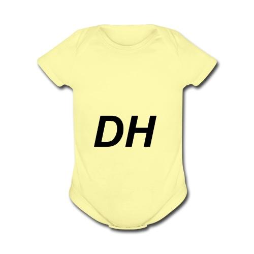 Dameon hogan initials - Organic Short Sleeve Baby Bodysuit