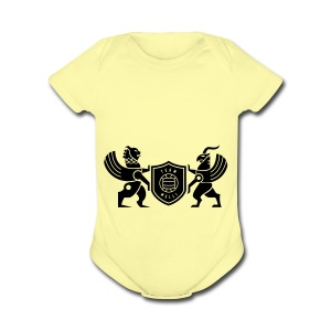 Iran lion & griffin - Short Sleeve Baby Bodysuit