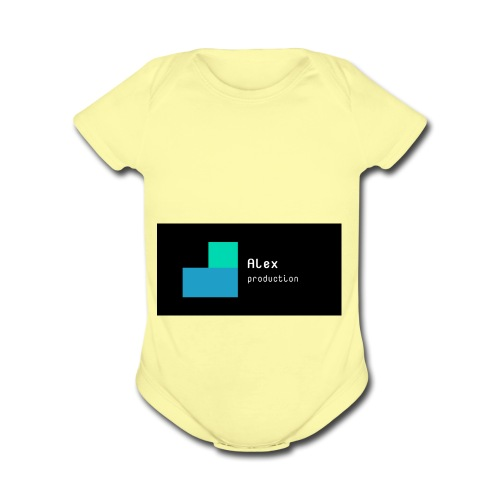 Alex production - Organic Short Sleeve Baby Bodysuit