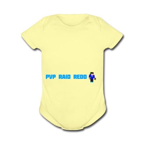iTzPreston Shirt PvP Raid Redo 2 - Organic Short Sleeve Baby Bodysuit