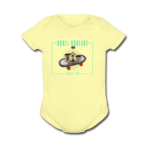 Rouli-Roulant club VR - Organic Short Sleeve Baby Bodysuit
