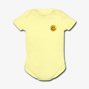 Smile Pin - Short Sleeve Baby Bodysuit
