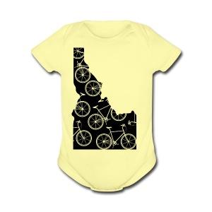 Idaho Bicycle - Short Sleeve Baby Bodysuit