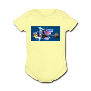 MightyJaws12 Logo - Short Sleeve Baby Bodysuit