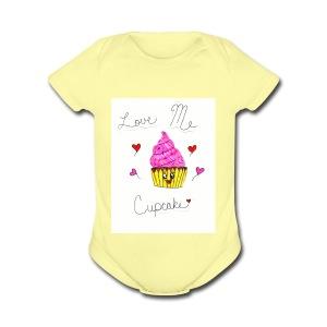 Love Me Cupcake - Short Sleeve Baby Bodysuit