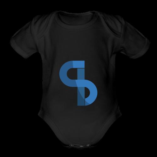 Santian Logo - Organic Short Sleeve Baby Bodysuit