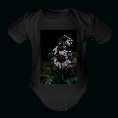 Flowers and Bee - Organic Short Sleeve Baby Bodysuit