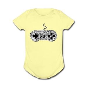 gamer controllers artwork - Short Sleeve Baby Bodysuit