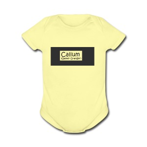 Callum's Custom Merch!!!!! - Short Sleeve Baby Bodysuit