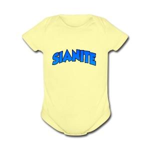 SIANITE SHIRT LOGO - Short Sleeve Baby Bodysuit