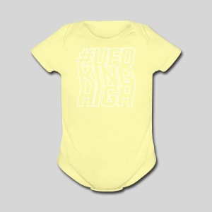 ALIENS WITH WIGS - #UFOKingHigh - Short Sleeve Baby Bodysuit