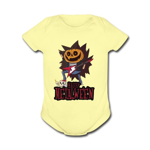 Happy Metalween - Organic Short Sleeve Baby Bodysuit
