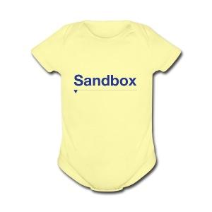 sandbox merch - Short Sleeve Baby Bodysuit