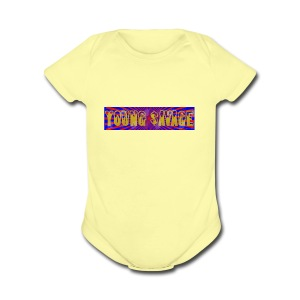 Young Savage merch - Short Sleeve Baby Bodysuit