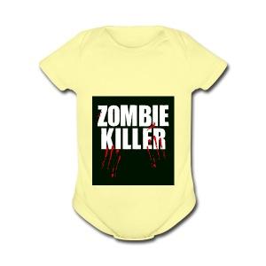 zombie killer shirt green - Short Sleeve Baby Bodysuit