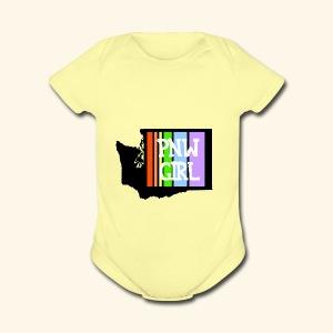 pnw rainbow - Short Sleeve Baby Bodysuit