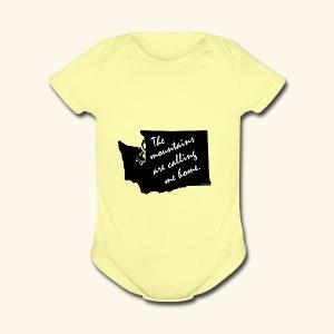 Washington mountains - Short Sleeve Baby Bodysuit